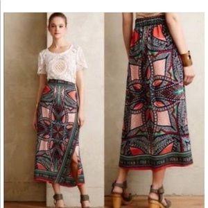 Anthropologie Geoda Wrap Skirt by Maeve Silk